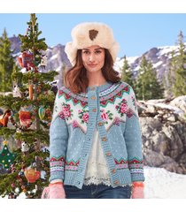 cottage rose cardigan sweater
