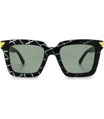 bottega veneta bottega veneta bv1005s green sunglasses