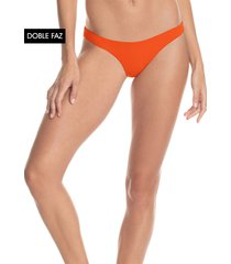 traje de baño pantie naranja-multicolor maaji swimwear ginger orange flirt