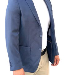 blazer azul oscar de la renta b9blz113-b