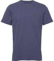 ss pocket tee t-shirts short-sleeved blå lee jeans