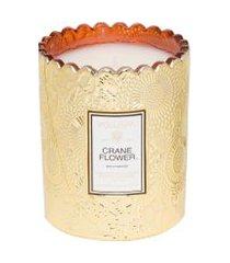 vela copo crane flower - dourado