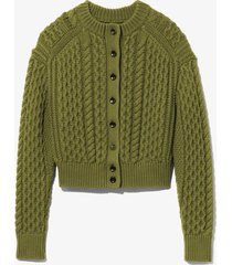 cableknit reversible sweater