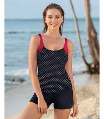 swimwear tankini negro leonisa 201313n