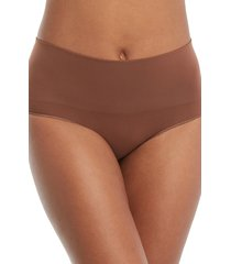 women's spanx everyday shaping panties briefs, size large - beige