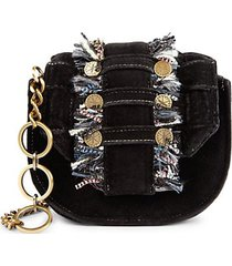 pixel orbit denim convertible clutch