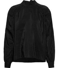 bless shirt blouse lange mouwen zwart hope