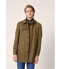 campera verde prototype nylon mac coat