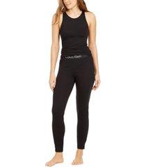 calvin klein women's tank top & jogger pants pajamas set