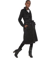 casaco sobretudo colcci pespontos preto