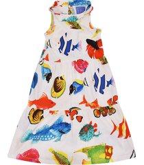 stella jean fish print dress