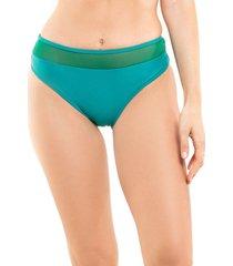 bikini calzón con transparencia verde samia