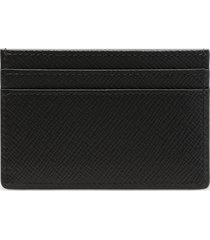 smythson women's panama flat card holder - black