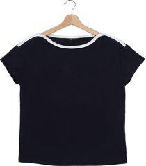 camiseta azul oscuro vero moda