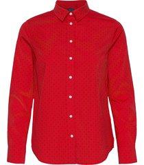 d2. fairly dot stretch bc shirt långärmad skjorta röd gant