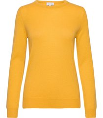 basic sweater gebreide trui geel davida cashmere