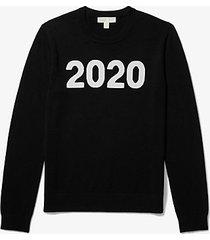 mk pullover in lana e cashmere 2020 - nero (nero) - michael kors