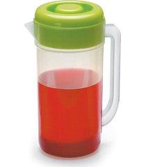 jarra de suco cozinha mesa c/tampa 2 litros plastico incolor