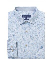 camisa dudlaina manga longa tricoline estampa floral masculina (estampado, 6)