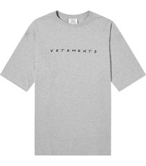 grey friendly logo t-shirt