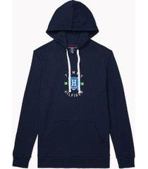 tommy hilfiger men's signature hoodie dark navy - s