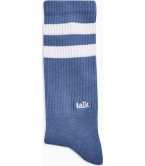 mens navy and white talk tube socks