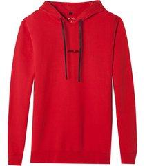 moletom john john red battle algodão vermelho masculino (vermelho medio, gg)