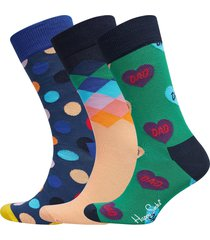 father's day gift box underwear socks regular socks multi/mönstrad happy socks