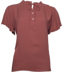 20 to 131-u 067 blouse km uni rosa
