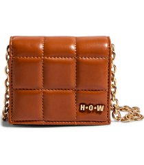 house of want h.o.w. we shop vegan leather wallet crossbody bag in camel at nordstrom