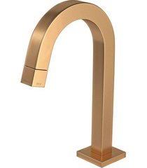 torneira para banheiro mesa tube bica baixa gold matte 1197.gl.tub.mt - deca - deca