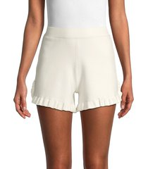 see by chloé women's ruffled elastic shorts - white - size s