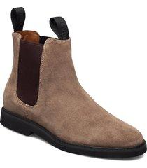 chelsea suede polaris w shoes chelsea boots brun sebago