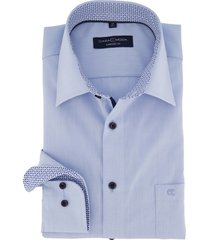 casa moda overhemd blauw comfort fit