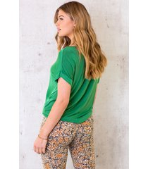 silk touch top bright green