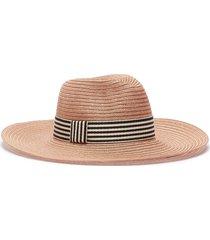 'emmanuelle' stripe ribbon straw hat