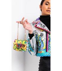 akira keep it casual graffiti purse