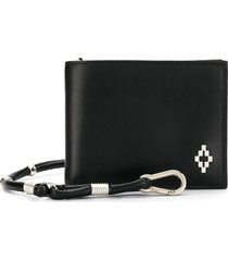 marcelo burlon county of milan cross logo bi-fold wallet - black