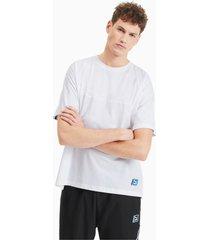 boxy tape t-shirt voor heren, wit, maat s | puma