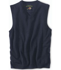 merino v-neck vest pullover