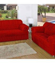 capa de sofã¡ casa dona 21 elã¡sticos class vermelho - incolor - dafiti
