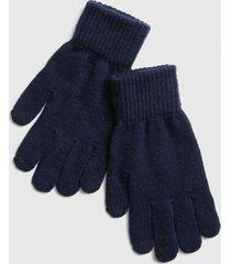 guantes full hombre azul gap