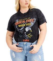 love tribe trendy plus size rock out cotton t-shirt