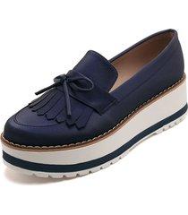 zapato azul rey moca salva