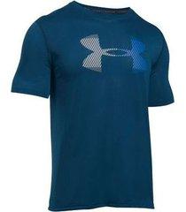 camiseta azul under armour threadborne logo