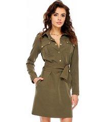 sukienka militarna khaki