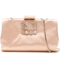 roger vivier soft flowers clutch