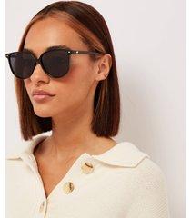 le specs women's eternally cat eye sunglasses - black