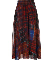 rok ruit patch voile