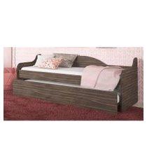cama auxiliar carvalho percasa móveis marrom
